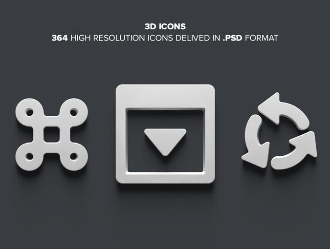 FREE - 3D Icons от UI8 | Лучшие ресурсы для дизайнера