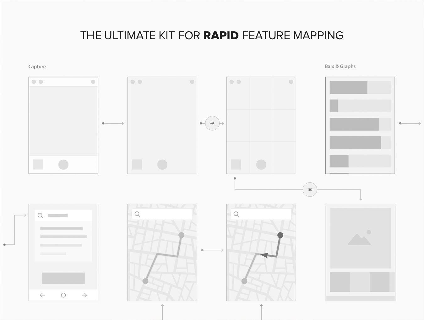 Architecture Drawing Kit information architecture kit — wireframe kits on ui8