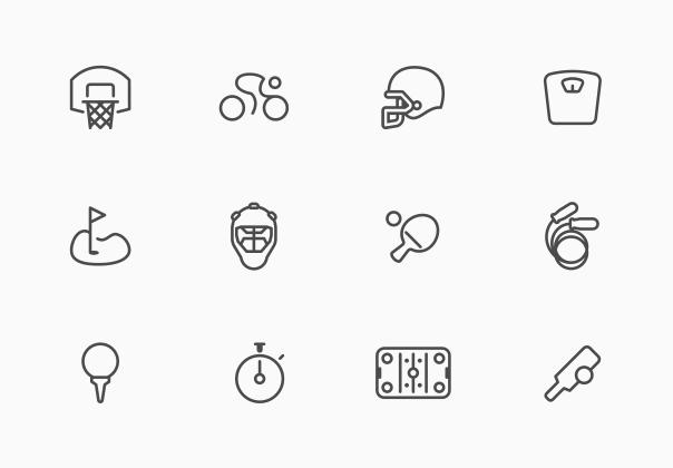 Sporties Icon Set
